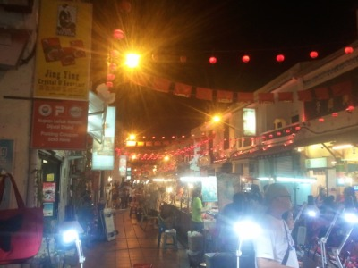 Melaka China town at night